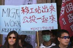 Referendum dei lavoratori migranti fotografia stock