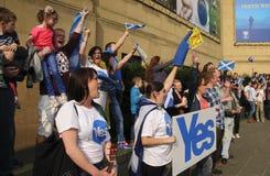 Referendum 2014 di Indy dello Scottish Fotografia Stock