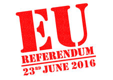 Referendum di UE Fotografia Stock