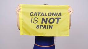 Referendum für die Trennung von Katalonien von Spanien stock video