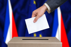 Referendum in France - voting at the ballot box Stock Images