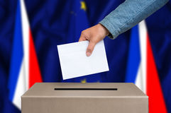 Referendum in France - voting at the ballot box Royalty Free Stock Photos