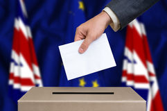 Referendum in Great Britain - voting at the ballot box Royalty Free Stock Image