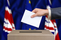 Referendum in Great Britain - voting at the ballot box Royalty Free Stock Photo