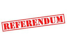 REFERENDUM. Red Rubber Stamp over a white background Stock Image