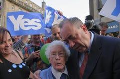 Referendum scozzese 2014 di indipendenza Fotografie Stock Libere da Diritti