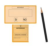 Referendum vote Stock Images