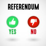Referendum Yes and No Buttons Stock Images