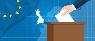 Referendumeuropa-Verbandsausgangsgroßbritannien-Bruchvektorillustration des Eus britische Stockfoto