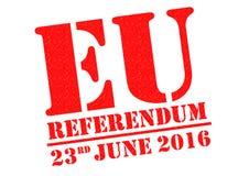 Referéndum de la UE Fotografía de archivo