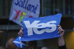 Referéndum escocés 2014 de la independencia Fotografía de archivo