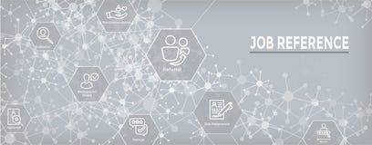 Referral Job Reference Web Header Banner and Icon Set. Referral Job Reference Web Header Banner & Icon Set