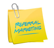 Referral marketing memo post Royalty Free Stock Images