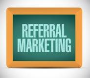 Referral marketing sign board Stock Image