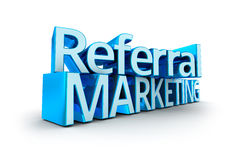 Referral Marketing text Stock Images