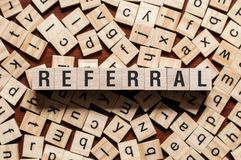 Referral word concept royalty free stock photography