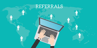 Referrals business location Royalty Free Stock Photography