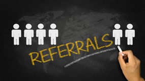 Referrals concept Stock Image