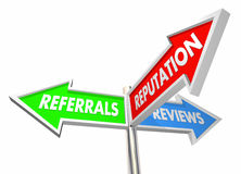 Referrals Reviews Reputation Business Growth Stock Image