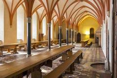 Refettorio del castello in Malbork, Polonia fotografie stock libere da diritti