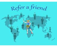 Refiera a un amigo de los cinco continentes libre illustration