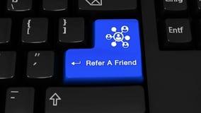 98 Refiera un movimiento de la rotación del amigo en el botón del teclado de ordenador ilustración del vector