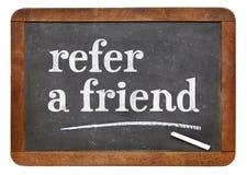 Refiera una muestra de la pizarra del amigo fotografía de archivo libre de regalías
