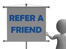 Refiera una remisión amistosa de los medios del tablero del amigo Fotos de archivo libres de regalías