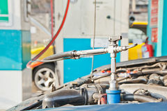 Refill CNG gas Stock Photos