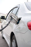 Refill CNG gas at fuel station Royalty Free Stock Images