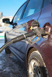Refilling the car with fuel Royalty Free Stock Image