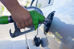 Refilling car with fuel Stock Image