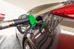 Refilling car fuel Stock Images