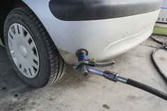 Refilling the car Stock Image