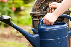 Refilling the watering pot Stock Photography