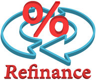 Refinance home mortgage loan Stock Images