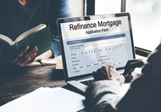 Refinance Mortgage Application Form Concept Royalty Free Stock Photo