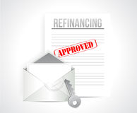Refinancing approved concept illustration design Royalty Free Stock Photo