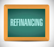 Refinancing board sign illustration design Stock Photography