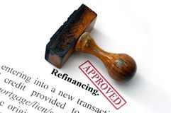 Refinancing Stock Image
