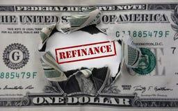 Refinancing dollar rip Stock Photography
