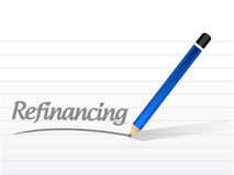 Refinancing message sign illustration Royalty Free Stock Photography