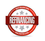 Refinancing red seal illustration design Royalty Free Stock Photography
