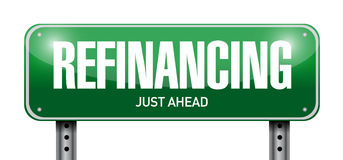 Refinancing street sign illustration Stock Photo