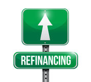 Refinancing street sign illustration design Royalty Free Stock Photo