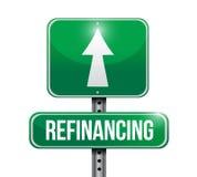 Refinancing street sign illustration design Royalty Free Stock Photo