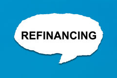 Refinancing with white paper tears Royalty Free Stock Images