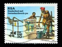 Refinando a água, 50th aniversário do serie de CSIR, cerca de 1995 Fotos de Stock