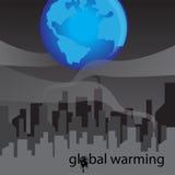 Refinaria com fumo e conceito do aquecimento global Fotos de Stock