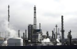 Refinaria de petróleo fotografia de stock